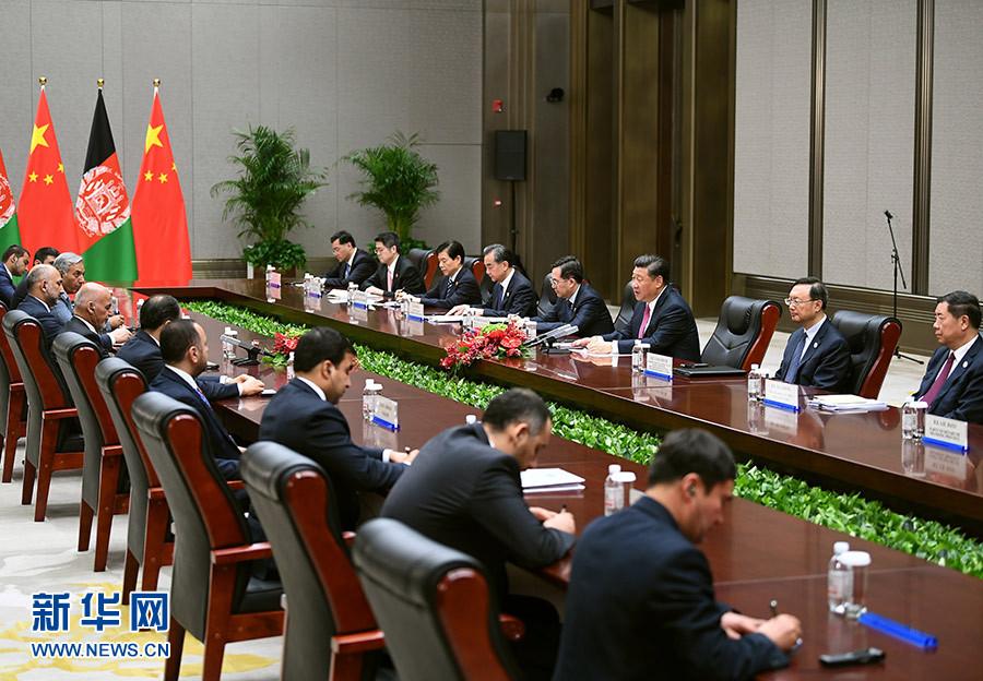 6月10日,国家主席习近平在青岛会见阿富汗总统加尼1.jpg